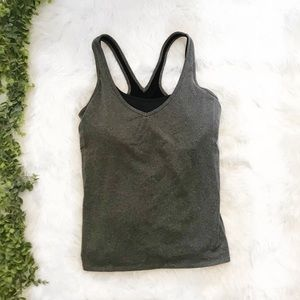 Lucy Gray Workout Tank With Sports Bra